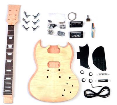 Build your Own Guitar – Gluing Set Neck & Painting – DIY SG Kit Part 1