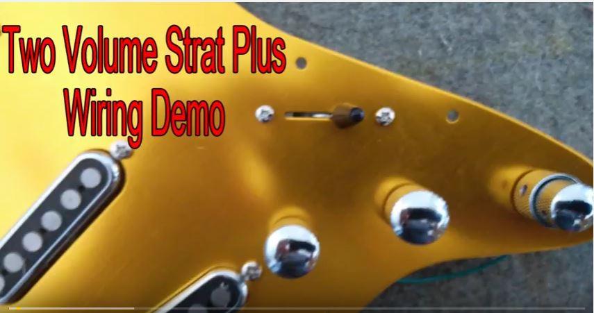 Stratocaster wiring diagram – Two Volume Strat Plus Schematic & Demo – GFS Brighton Rock Pickups