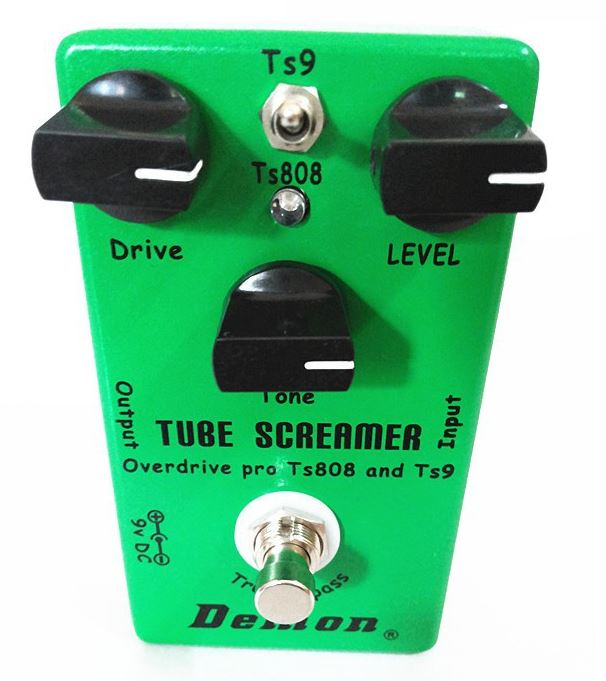 Ibanez Tube Screamer Clone - Affordable Classic Overdrive Tone Ibanez Tube Screamer Clone. The problem we face in commerce is as soon as a product become famous, the price gets incredibly high. Guitar pedals, even more than an electric guitar, are built with few dollars of equipment. We are paying for the brand and of course the creativity of the product; Clone Pedals Even if I consider normal to pay for the intellectual property, I find the price they are charging ridiculously high when you know the cost of components included. Especially for a factory that buys them by the tons. You can make your own Ibanez Tube Screamer Clone for peanuts if you are willing to invest in parts and time to do it. As I say in the video, if the circuit board and components used are the same, it can't be a different product. There are tons of free schematic online you can get to build any pedal and get the same outcome. Overdrive and distortion pedals are exceptionally easy to make. Effects such as chorus or delay are much harder to assemble, but a distortion pedal can be constructed in few hours if you know how to solder properly. Problem making your clone The only issue I have making pedal clone is; with every effect you need specific components. Even if I buy them cheap at Aliexpress, you can't buy one capacitor or one resistor at a time, so you end up buying 1000s of each value to use them maybe once in a while, or never again. Especially if you intend to build clones for your use only, the massive amount of components ends up overwhelming. Buying ready make kit is not attractive. The price of it is higher than the purchase of a ready-made clone. Buying a kit is fun only if you like building pedals. It's quite easy, and you can make your art and look of the casing. Selling Clone Also selling clone on eBay and alike is not a successful business plan. You won't be able to be competitive with Chinese factories who are making a much better job. When you are making clones, you are using handmade PTB. Companies are making their printed circuit board. The result is much more professional and stable. The Ibanez Tube Screamer Clone Ibanez Tube Screamer Clone is the way to go to get an identical tube screamer pedal for a fraction of the price. You won't have to fear customs issue since it's not a fake Ibanez pedal but a Demon. If you don't mind having the brand name Demon plastered on the pedal instead of Ibanez, you can have a Tube Screamer for 36$ shipping included. TS9 and the TS808 versions They also included the two popular version of the pedal into the same box. The TS9 and the TS808. As demoed in the video the difference between the two is so minimal that nine times out of ten you can't hear the difference. Despite the lack of contrast, I prefer the TS9 version. I think there's more output than the TS808 mode. You can set the same sound in the TS808 by boosting the gain and volume, but it gets a little noisier than the same sound laid down in the TS9 mode, despite the pedal being exceptionally silent compared to other overdrives. Difference between the TS9 and the TS808 When I first tested the pedal I had a bigger discrepancy in volume and tone between the two modes. It depends on the guitar used and the overall setting. In the video, I just used a Cathedral reverb and the Tube Screamer. Sound beeing all about frequencies, the outcome is going to be entirely different is you add other effects in the chain, like a phaser or a flanger. Then the difference between the two available setting is going to be bigger. How I use my Pedals Personally, I set my stompboxes once and for all, and depending on the guitar used, the sound is different. That's why I demoed the effect using three distinct type of pickups. A vintage strat with passive single coils, an SG with humbuckers and another strat sporting active EMG pickups. Different Overdrive Sounds I have three sources of overdrive; that let me set three different tones. I use the lead channel of my amps for a fat crunchy sound, my Soul Fool for an almost clean overdrive sound, and my Ibanez Tube Screamer Clone for a brighter tone. I boost any of these setting using either my Centaur clone or a compressor. I can also use the Soul Food to boost the Tube Screamer or my amp's lead channel. It all depends on the type of pickups used and the sound I want. Low pickup output delivers a bluesy sound; high pickup output renders a heavier sound. Because I have built a lot a different guitar owning totally different wiring, there's always a guitar that does not sound too good with an individual setting. I just don't use it on that guitar instead of editing the effect. Link to buy the Ibanez Tube Screamer Clone If you want the real Ibanez Tube Screamer Please send me your two cents if you have anything to add or ask about the Ibanez Tube Screamer Clone.