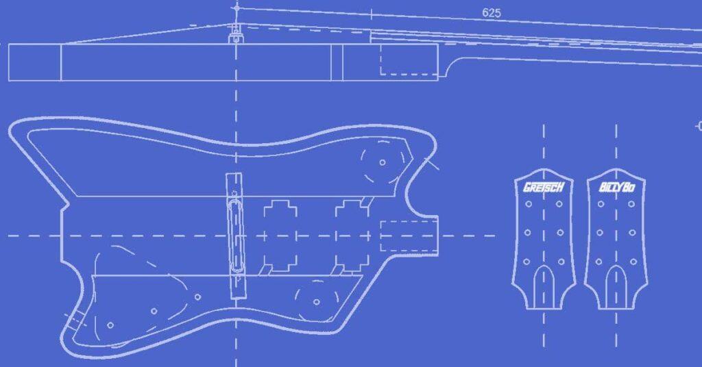 gretsch billybo jupiter thunderbird guitar template