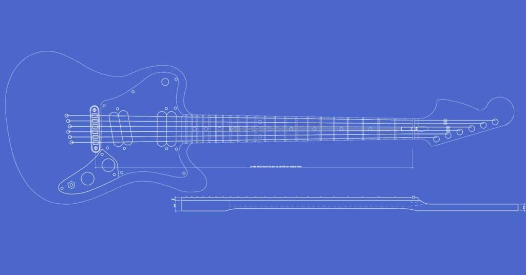 Squier Supersonic / Hypersonic Guitar Template | Electric Herald