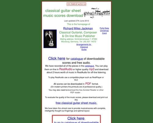 Classical Guitar Sheet Music – Downloadable Scores