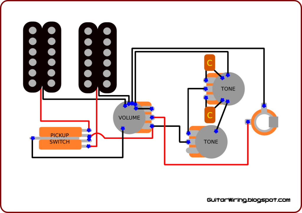 Guitar Wiring With Untypical, Flexible Tone Control