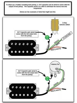 Adding a capacitor to sharpen up a neck pickup mudiness