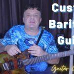 Custom Baritone Guitar with fanned frets & hipshot multiscale guitar bridge